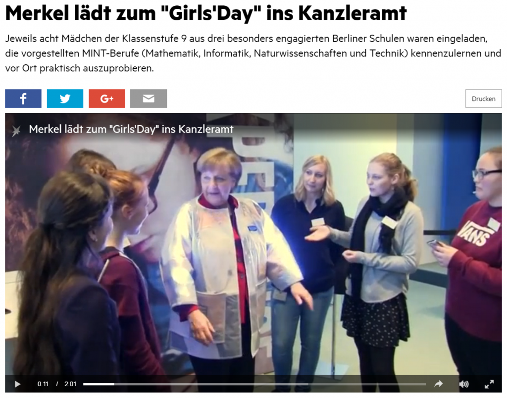 Girls'Day Auftakt